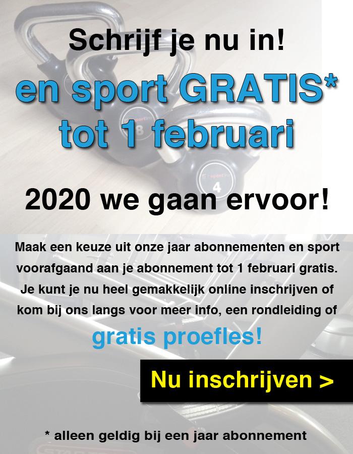 Sport gratis 1 maand Beilen